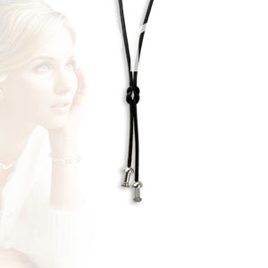 ONEjewels 45 cm Stof collier met 2x onejewels systeem  (5100-45)