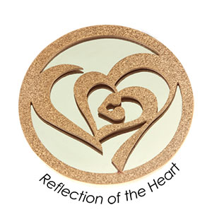 Quoins Coin (L) Reflection of the Heart Pink Gold PVD Plated (QMOD-10L-R)