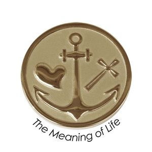 Quoins Coin (M) The meaning of life Yellow Gold PVD Plated (QMOZ-07M-G)