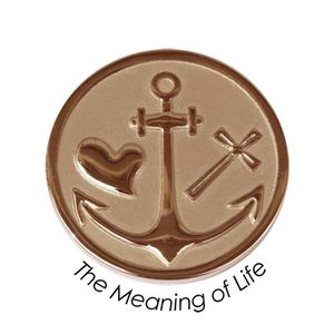 Quoins Coin (M) The meaning of life Pink Gold PVD Plated (QMOZ-07M-R)