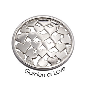 Quoins Coin (M) Garden of Love 925 Sterling Silver (QMZG-10M)