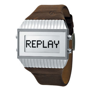 Replay Speed - Horloge 27 x 46 mm bruin/zilver RWRX5102AAD