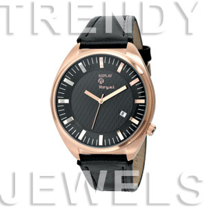 Replay Royal - Horloge 48 mm zwart/goud RWRX8303NH