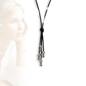 ONEjewels 80 cm Stof collier met 4x onejewels systeem  5000-80
