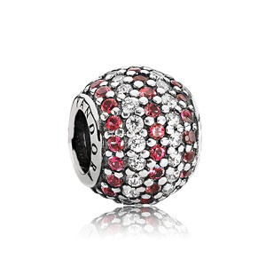 Pandora Bedel Rood Nautical Pavé Stripes 791172CZR