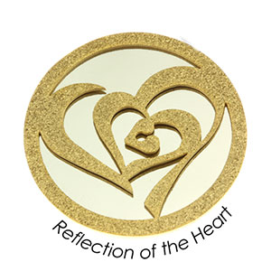 Quoins Coin (L) Reflection of the Heart Yellow Gold PVD Plated QMOD-10L-G