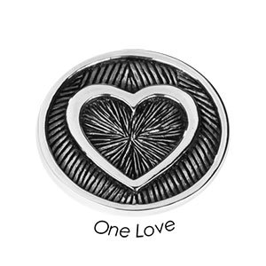 Quoins Coin (M) One Love 925 Sterling Silver QMZG-27M