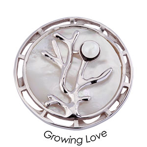 Quoins Coin (L) Growing Love Exclusive 925 Sterling Silver QMZX-01L-W
